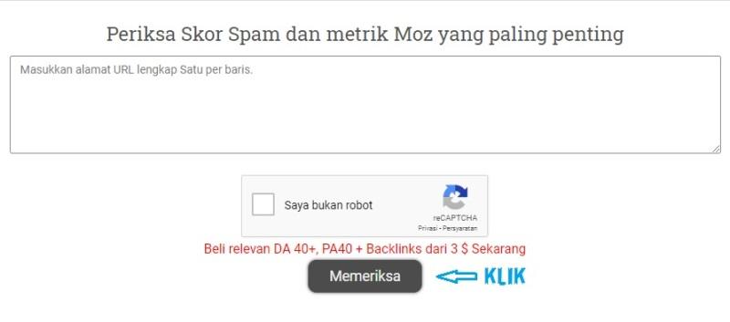 Cek Spam Score