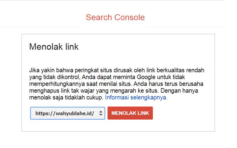 Disavow Link