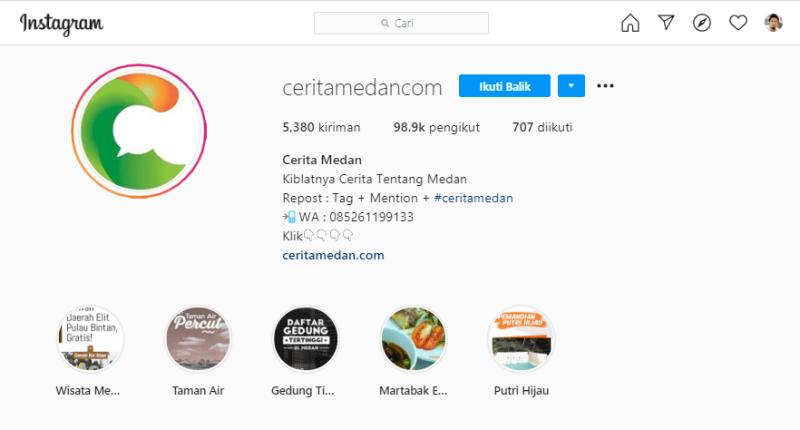 Cerita Medan Instagram