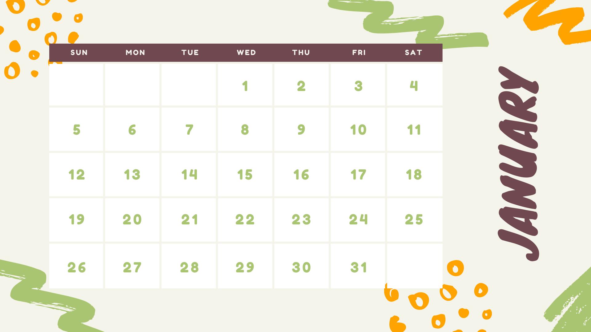 Kalender 2021 Gambar Lucu