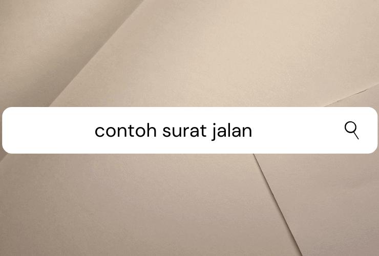 Contoh Surat Jalan