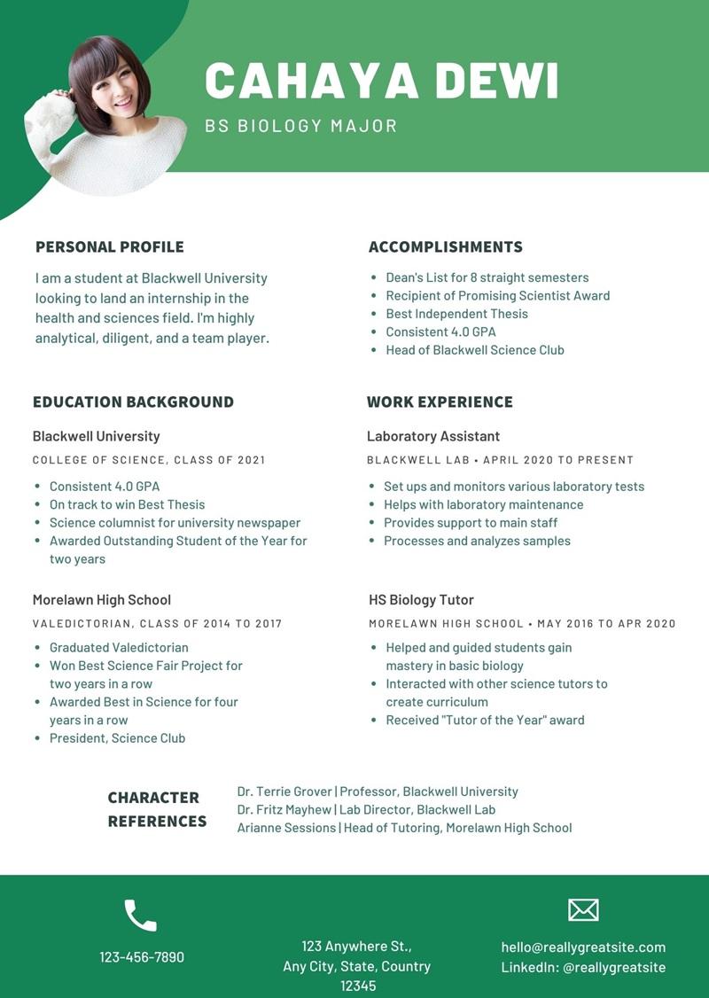 Contoh CV Bahasa Inggris Fresh Graduate