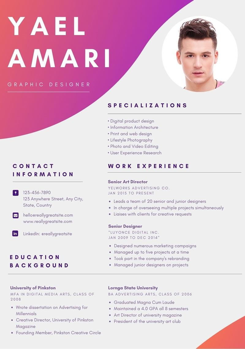Contoh CV Bahasa Inggris Graphic Designer