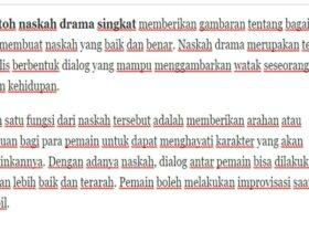 Contoh Naskah Drama Singkat